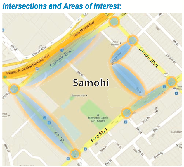 SRTS SAMO area map
