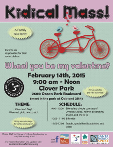 Kidical Mass Flyer V-day 2015