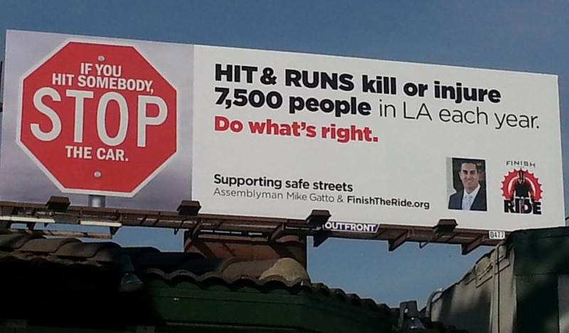 hit and run billboard SAFE