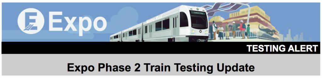 Expo train testing 1