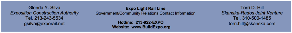 Expo train testing email footer