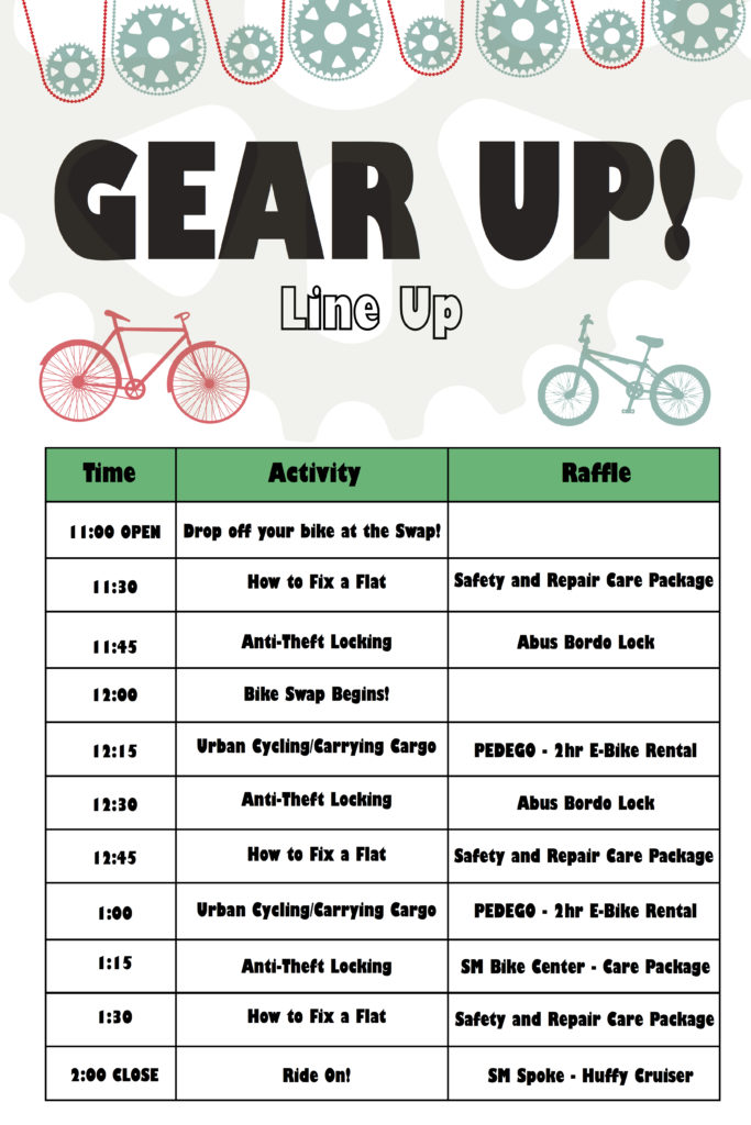 Gear Up Line Up Poster