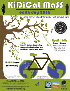 Kidical Mass Earth Day 2016 Flyer