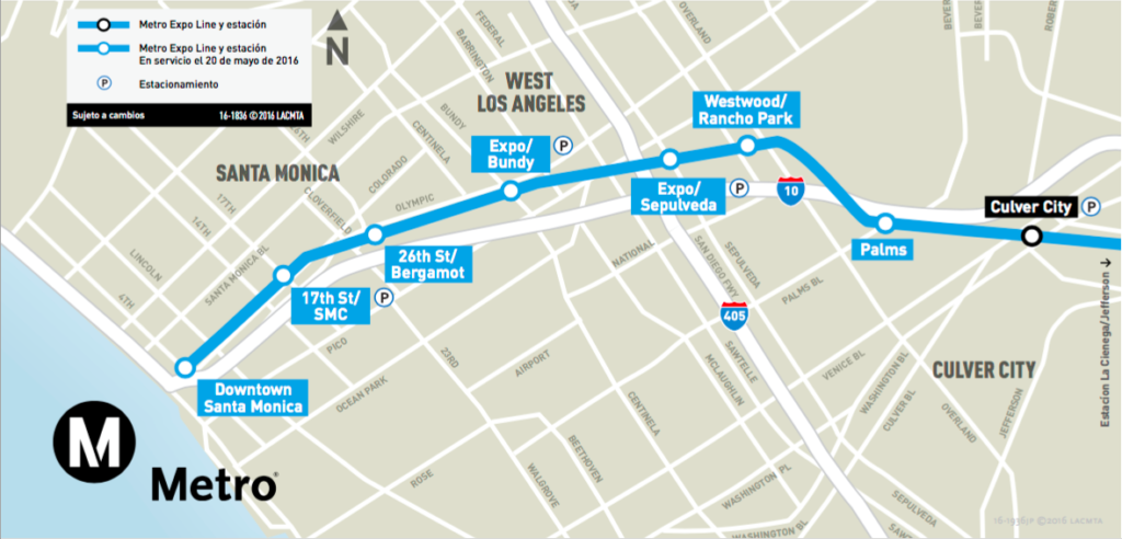 Santa Monica Subway Map.Expo Line More To Explore Opens To Santa Monica May 20 Santa