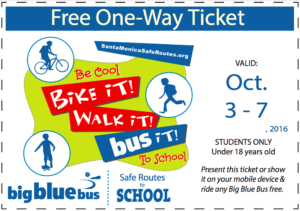 Bike it Walk it coupon Oct. 2016