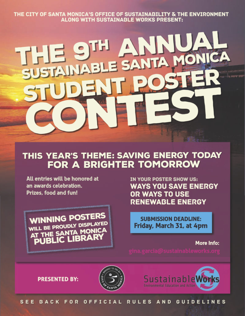 Student Poster Contest: Sustainable Santa Monica! | Santa Monica Spoke